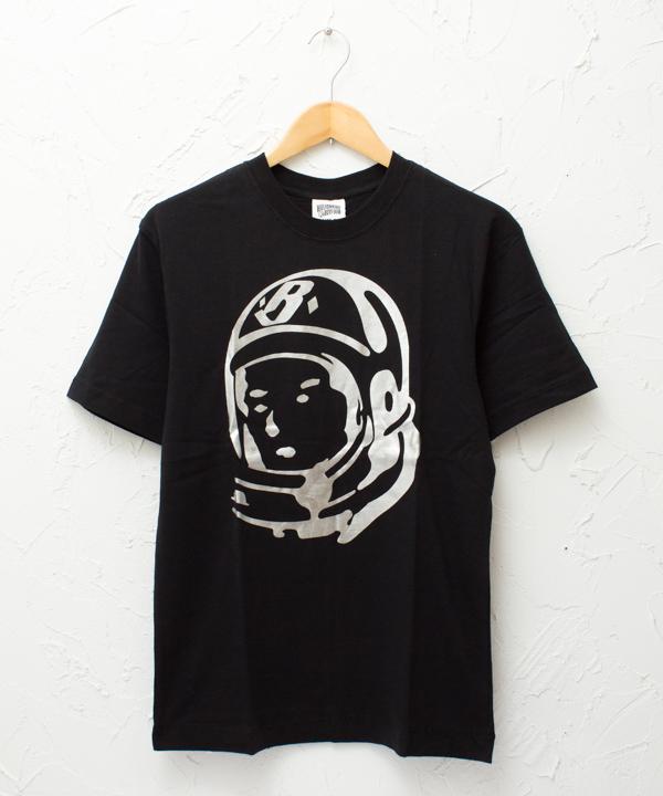 """BILLIONAIRE BOYS CLUB """"Classic Helmet"""" S/S TSHIRT #BLACK/SILVER"""