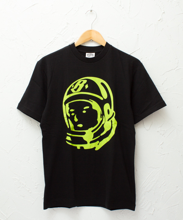 "BILLIONAIRE BOYS CLUB ""Classic Helmet"" S/S TSHIRT #BLACK/LIME"