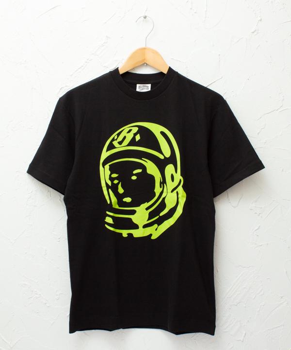"""BILLIONAIRE BOYS CLUB """"Classic Helmet"""" S/S TSHIRT #BLACK/LIME"""