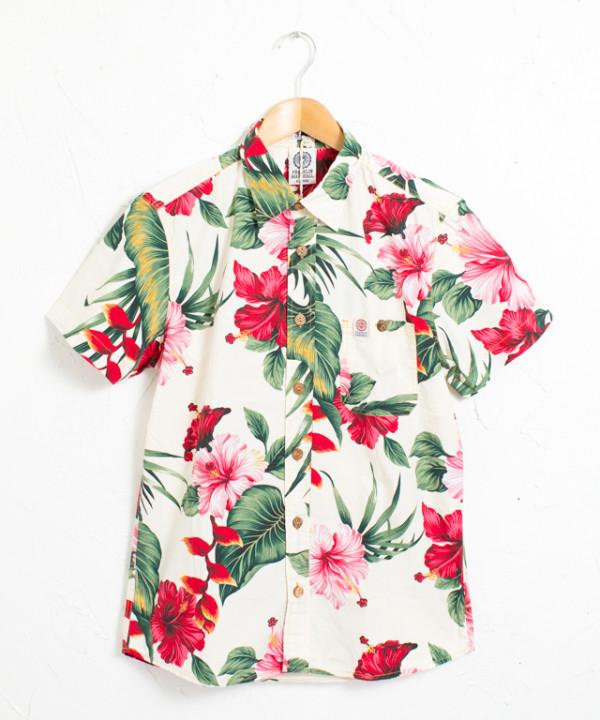 フラワー総柄半袖シャツ