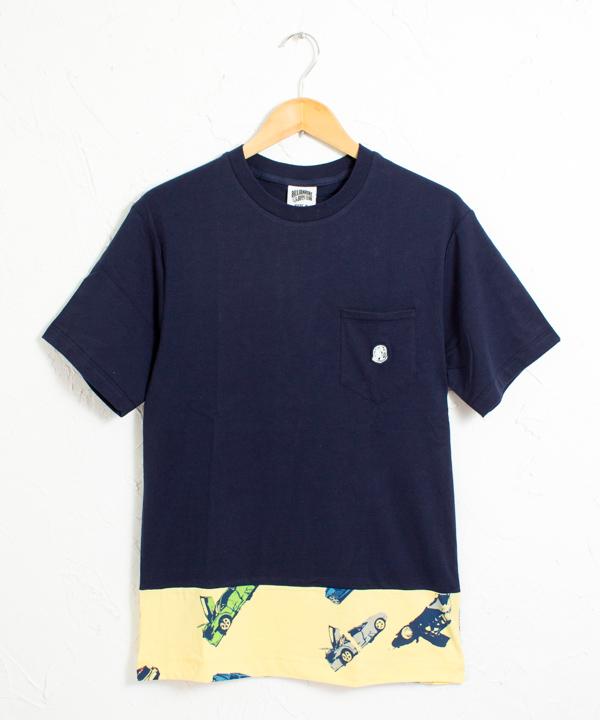 BBC カースピリット柄 切替し ポケット付き 半袖Tシャツ