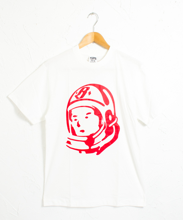 クラシックヘルメットロゴ 半袖 Tシャツ #ホワイトxレッド