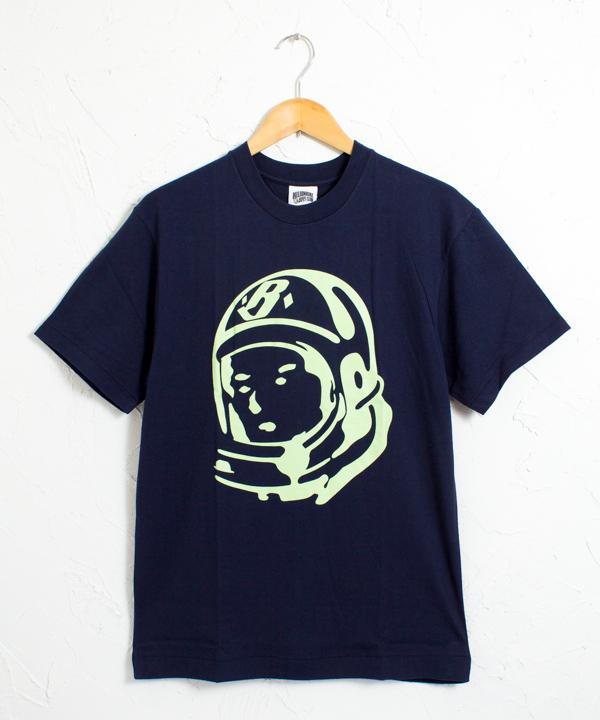 クラシックヘルメットロゴ 半袖 Tシャツ #ネイビーxパステルグリーン