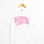 アーチロゴ プリント 半袖Tシャツ #ホワイトxパステルピンク