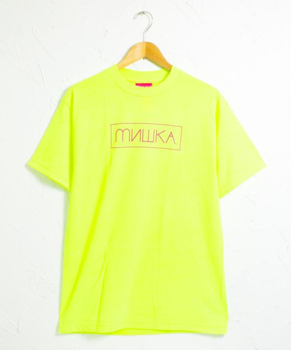 MISHKA - ミシカ ネオンカラー ボックスロゴ 半袖Tシャツ