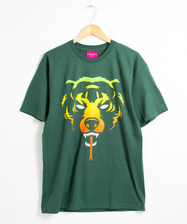 ミシカ アッダーラスタ ロゴ 半袖Tシャツ #グリーン