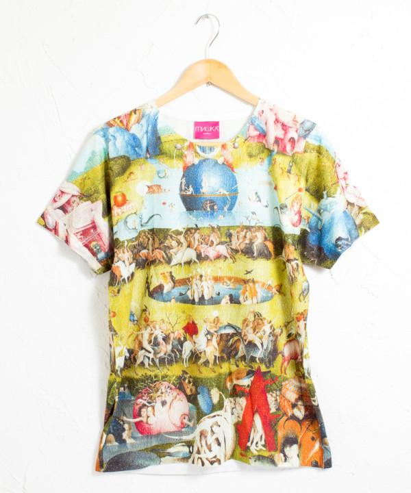 ミシカ シエロ 天国 グラフィック 総柄プリント 半袖Tシャツ