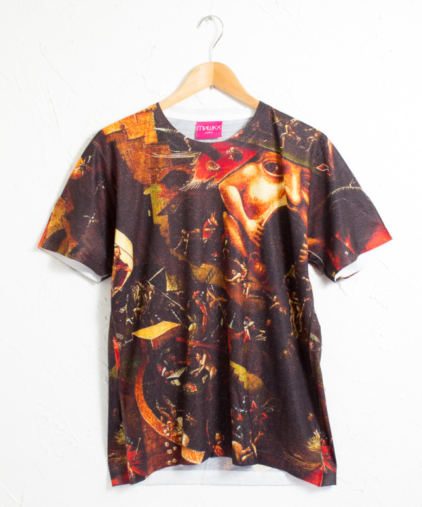 ミシカ インフェルノ 地獄 グラフィック 総柄プリント 半袖Tシャツ